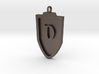 Medieval D Shield Pendant 3d printed