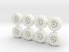15mm diameter buggy/UTV wheels (8) 3d printed