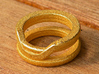 Balem's Ring1 - US-Size 3 (14.05 mm) 3d printed Ring 1 in polished gold steel (shown: size 6 1/2)