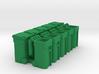 Trash Cart Mixed - HO 87:1 Scale Qty (10) 3d printed