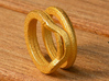 Balem's Ring1 - US-Size 5 (15.70 mm) 3d printed Ring 1 in polished gold steel (shown: size 6 1/2)