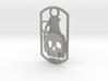 Skull grenade dog tag 3d printed