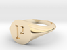 Letter P - Signet Ring Size 6 3d printed