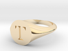 Letter T - Signet Ring Size 6 3d printed