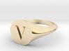 Letter V - Signet Ring Size 6 3d printed