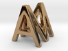 AM MA - Two way letter pendant 3d printed