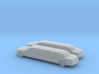 1/148 2X 2007 Lincoln Stretch Limo 3d printed