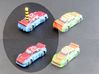 Miniature cars, NASCAR (42 pcs) - Hole variant 3d printed Hand-painted White Strong Flexible. Toothpick not included.
