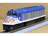 N Scale EMD F40C (Milwaukee Road) 3d printed Model built and painted by Jeff King of MilwaukeeRoadTrainShop.com. Photo by Jeff King.