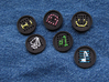 "1"" embroidery buttons (dozen) 3d printed"