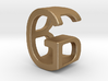 Two way letter pendant - BG GB 3d printed