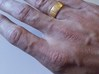 Dennis Ring-Size10 3d printed Shapeways print in Gold Plated Stainless Steel