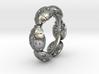 Hidden Heart Ladybug Leaves of Grass Eternity Ring 3d printed