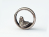Reverse Bird Ring 3d printed Stainless Steel