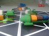 DSC Cargo Ships 3d printed Earlier version loaded up and ready to play.