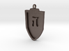 Medieval J Shield Pendant 3d printed