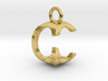 Two way letter pendant - CC C 3d printed