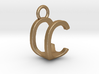 Two way letter pendant - CU UC 3d printed