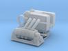 4.5 Mk6 Naval Gun and Limbo Mk 10 Mortar. 1/144 sc 3d printed