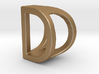 Two way letter pendant - DD D 3d printed