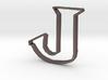 Typography Pendant J 3d printed