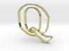 Typography Pendant Q 3d printed