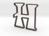 Typography Pendant H 3d printed