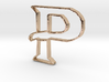 Typography Pendant P 3d printed