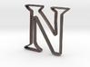 Typography Pendant N 3d printed