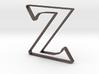 Typography Pendant Z 3d printed
