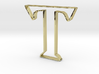Typography Pendant T 3d printed