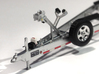 1/87 Myco Trailer 3-axle speedboat-trailer 3d printed Frosted Ultra Detail with HiSpec rims and decals