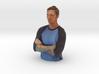 Nethaniel Gann 100mm bust 'HEROES OF TATTOO' 3d printed
