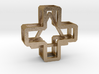 """Cross with """"floating"""" Triangle inside, 2.25 cm 3d printed"""