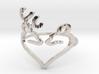Size 10 Buck Heart 3d printed