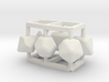 Role Play Dice Set: 1/6-1/4 doll size 3d printed
