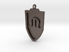 Medieval M Shield Pendant 3d printed
