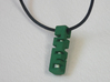 Tritium Holder Pendant - GLOW IN THE DARK! 3d printed Pendant with necklace in place