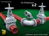 PIPELINE- valve No.2 & elbow (9,5mm) 3d printed Vale No.2 + Elbow - set of two each