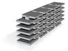 Set of 40 flat square Matias/ALPS specialty keycap 3d printed