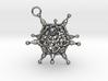 Adenovirus pendant or earring with loop 3d printed