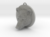 Bear Face Necklace 3d printed