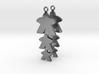"""Meeple Earrings """"threeple"""" 3d printed"""