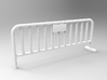Barrier 01 (portable fence). Scale HO (1:87) 3d printed