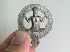 Clan Murray plaque 3d printed Printed by Shapeways in polished nickel steel