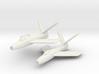 Republic XF-91 Thunderceptor Pair (In Flight) 6mm  3d printed