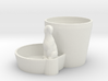 Plant pot with animal 3d printed