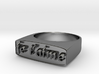 "RING   "" Je t'aime ""   U.S Size  8 3d printed"