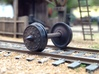 """HO scale 28pc 36"""" Allen paper wheel inserts 3d printed"""