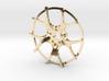 Twin Five Spoke Wheel Face 3d printed